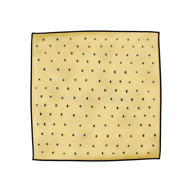 Matzo ilustracja ilustracja wektor