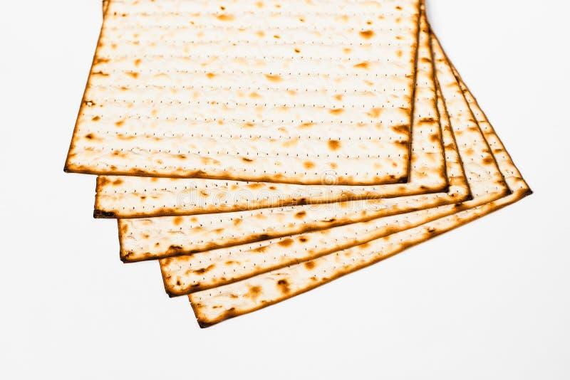 Matzoh, żydowski passover chleb fotografia stock
