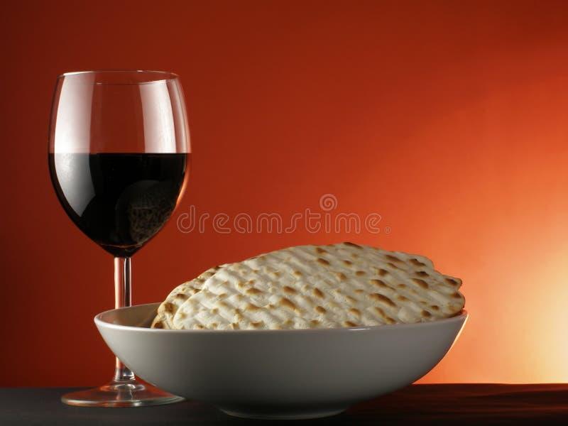 matzoh wino zdjęcie stock