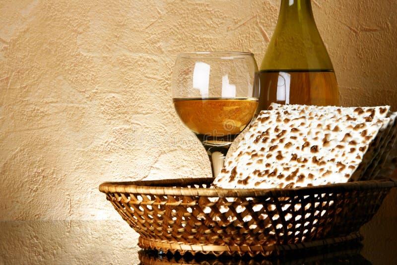matzoh wino zdjęcie royalty free