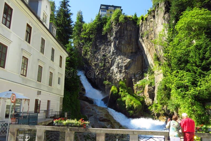 Mau bonito Gastein da cachoeira imagens de stock royalty free