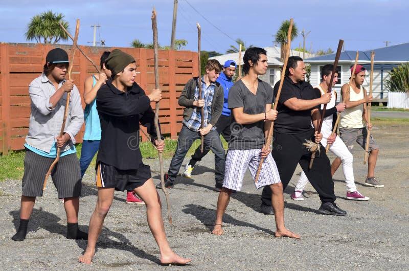 Mau Rakau - arte marcial fotografía de archivo libre de regalías
