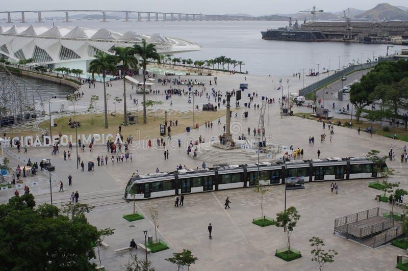 Maua-Quadrat in Rio de Janeiro stockfotografie