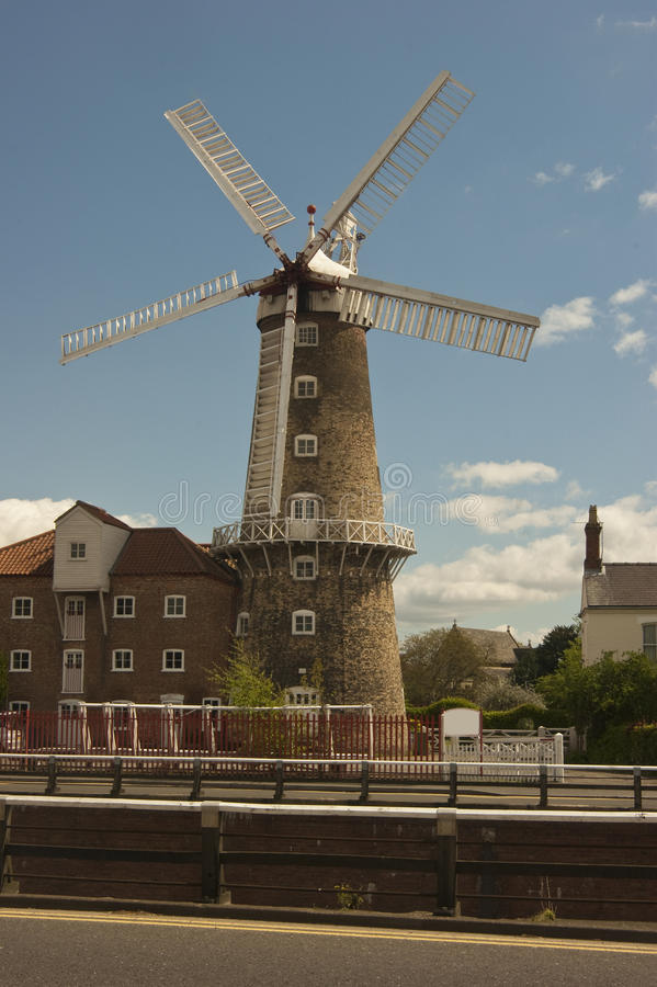 Maude bevordert windmolen, Boston, Lincolnshire. royalty-vrije stock afbeelding