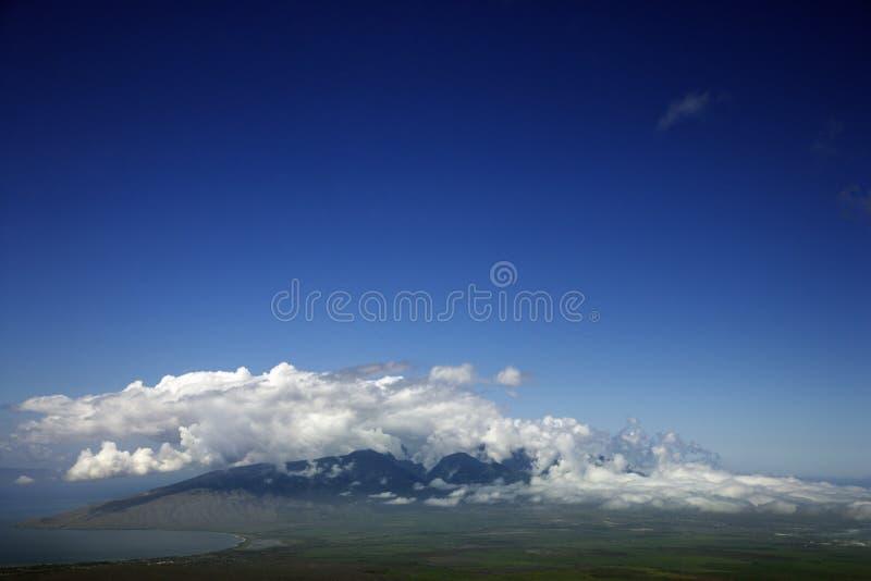 Maui ad ovest da Haleakala. immagini stock libere da diritti