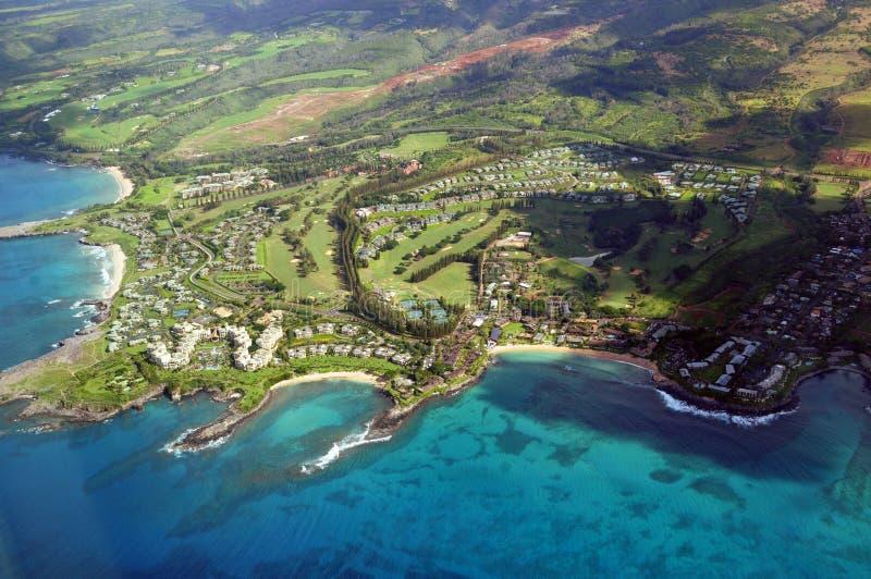 Maui från luften royaltyfria bilder