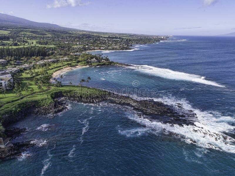Maui Hawaii på den Kapalua fjärden royaltyfria foton