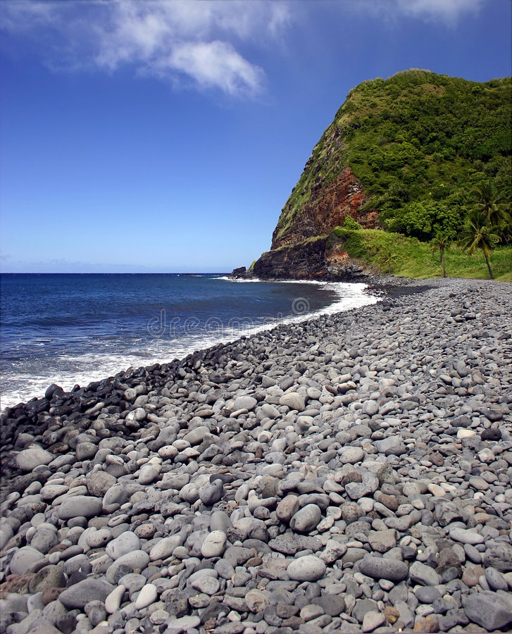 Maui-Insel Pebble Beach, Hawaii stockfoto