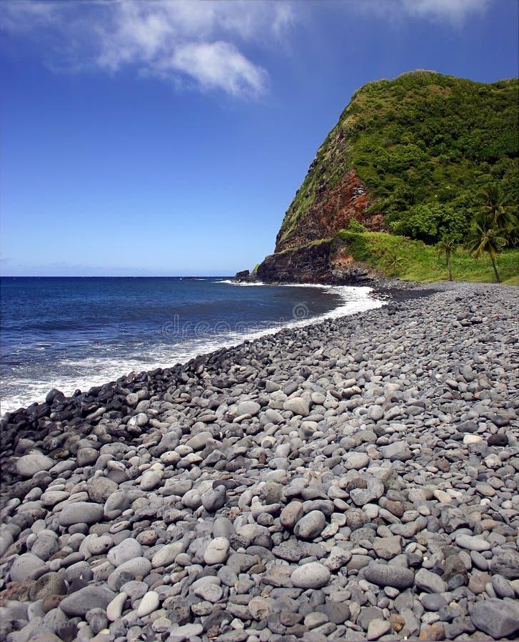 Maui Island Pebble Beach, Hawaii stock photo