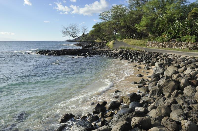 Maui linia brzegowa i sceniczna droga obrazy royalty free