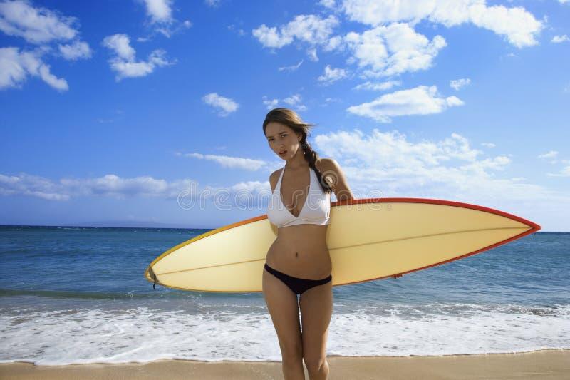 Maui plażowa kobieta obrazy stock