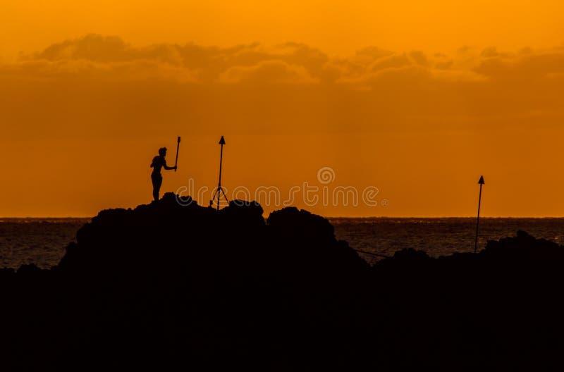 Maui pochodni Oświetleniowa ceremonia obraz stock