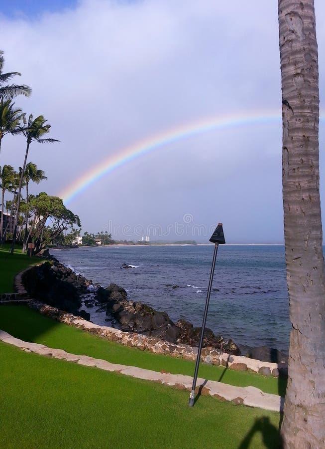 Maui regnbåge arkivfoto