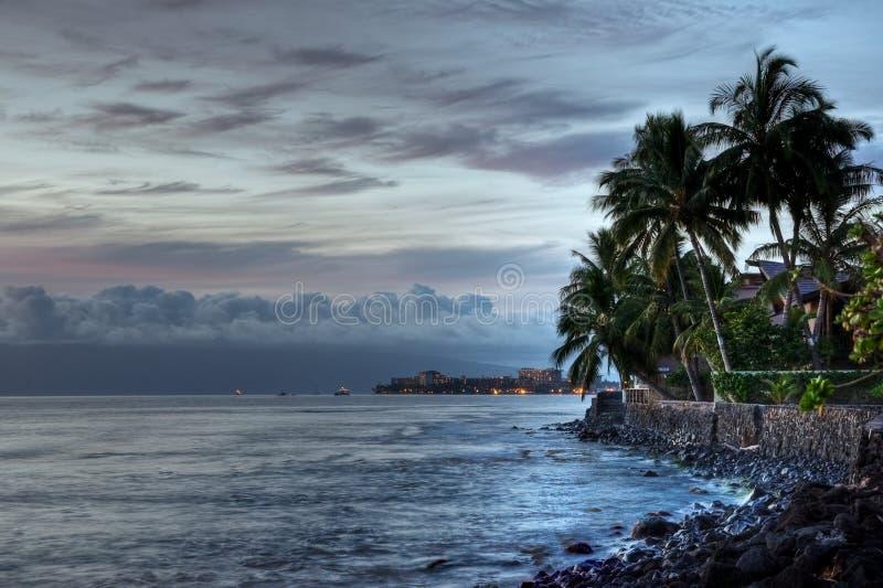 Maui-Sonnenuntergang stockfotografie