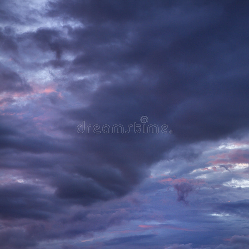 Maui storm clouds. royalty free stock images