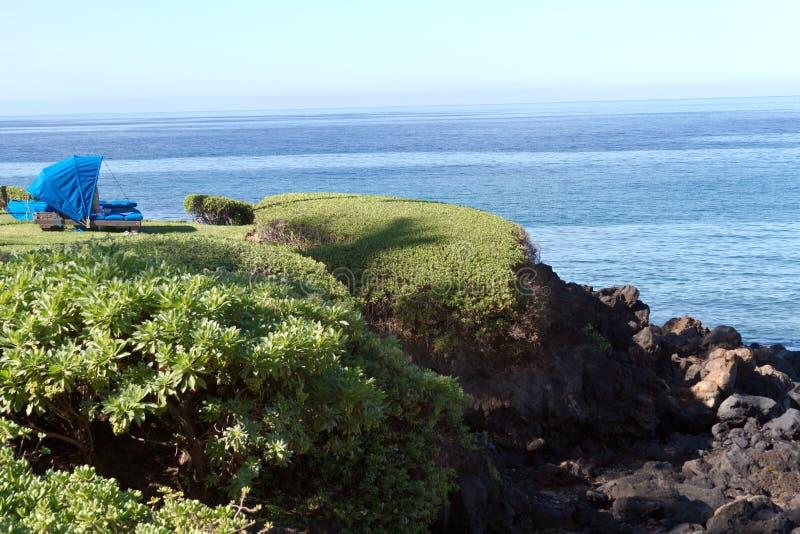 Maui-Strand Cabana lizenzfreie stockbilder