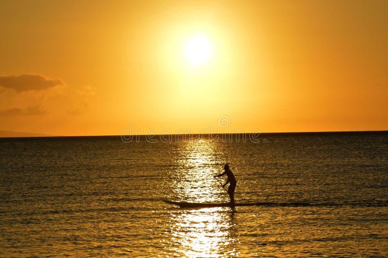 Maui-SUP Internatsschüler lizenzfreies stockfoto