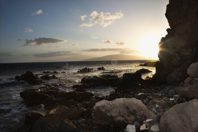 Maui wybrzeże rocky zdjęcie stock