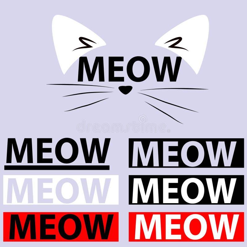 Maullido - gato - logotipo - cita imágenes de archivo libres de regalías