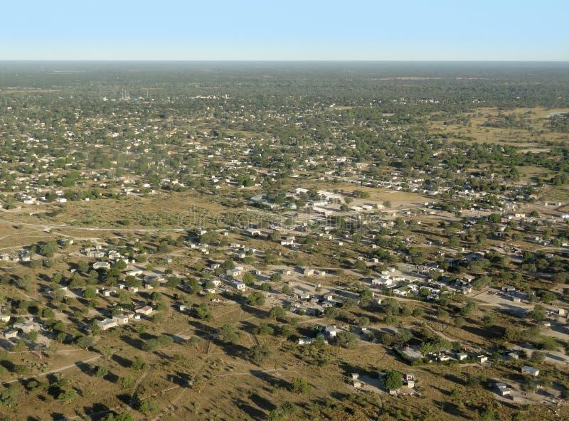 Maun nel Botswana fotografie stock libere da diritti