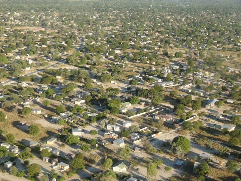 Maun nel Botswana immagine stock