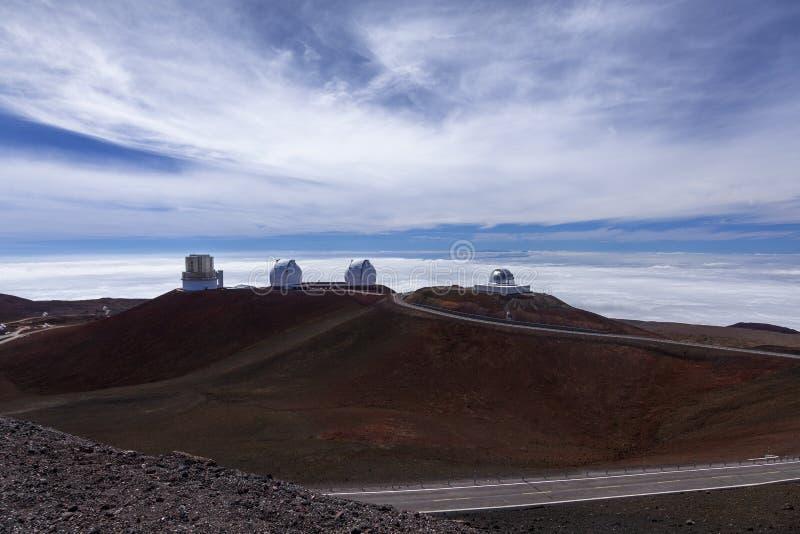 Mauna的Kea观测所,喂 免版税库存图片