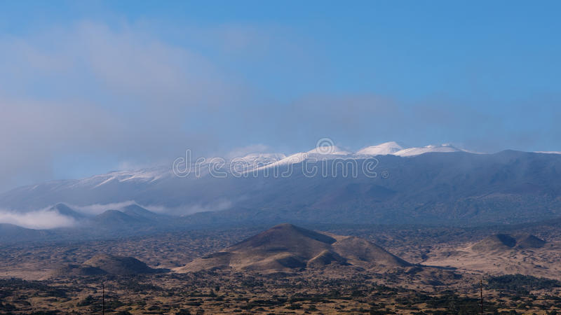 Mauna couronné de neige Kea photos stock