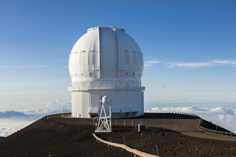 Mauna Kea Canada-France-Hawaii Telescope CFHT, grande île, Hawaï photo libre de droits
