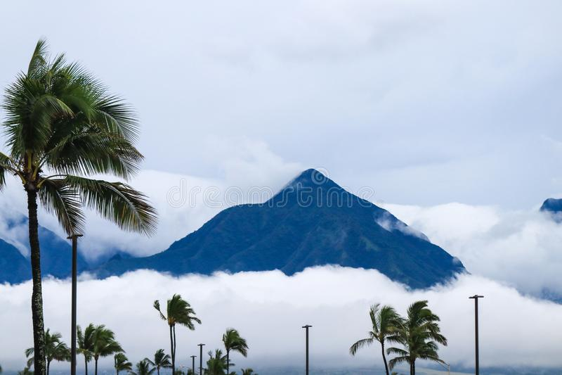 Mauna Kea dormant volcano on the island of Hawaii. A view of the breathtaking Mauna Kea dormant volcano on the island of Hawaii royalty free stock photos
