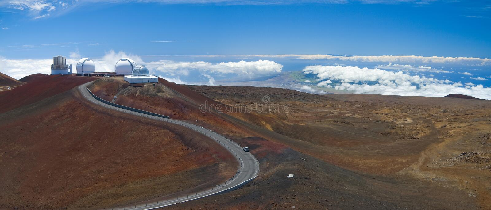 Mauna Kea Observatories royalty free stock photography