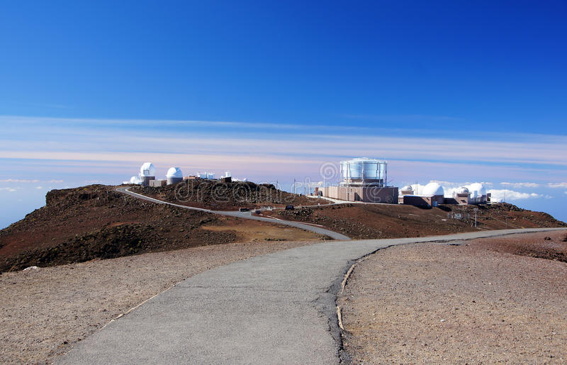 Mauna-Kea-Observatories, Hawaii, USA. Hawaii is the most recent of the 50 U. S. states, and is the only U. S. state made up entirely of islands. It is the royalty free stock image