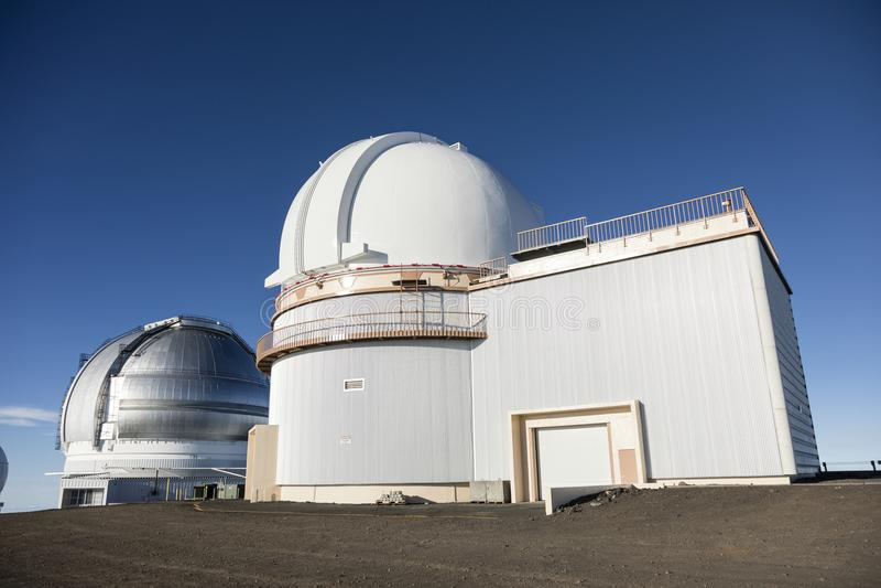 Mauna Kea University van Hawaï 2 2m Telescoop, Groot Eiland, Hawaï stock fotografie