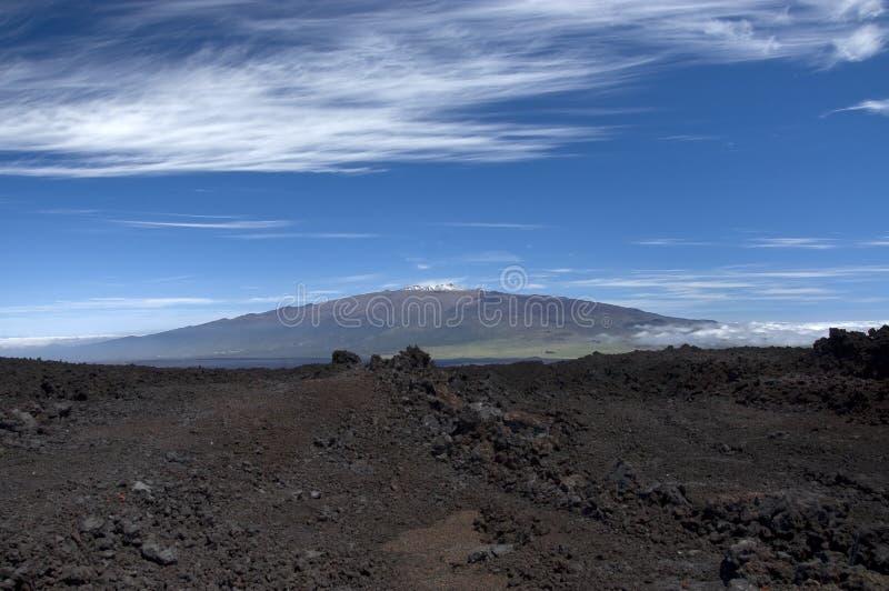 Mauna Kea van Mauna Loa. stock foto's