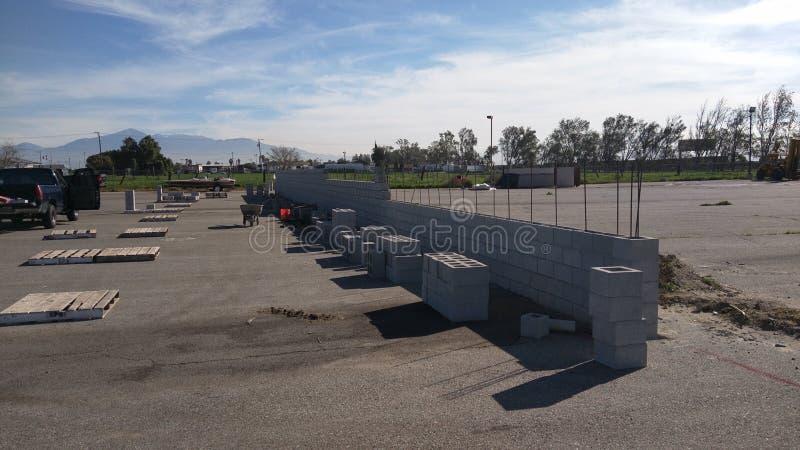 Maurerarbeit-Block-Wand stockfotos