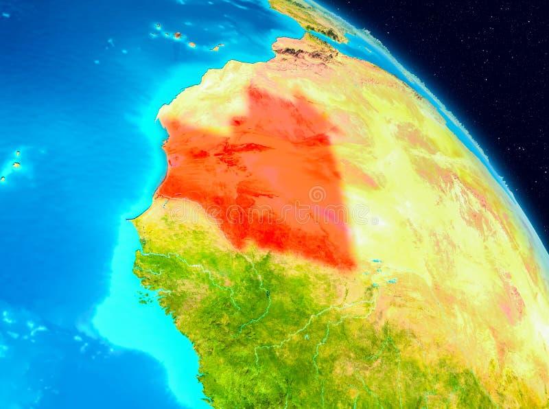Mauretanië ter wereld vector illustratie