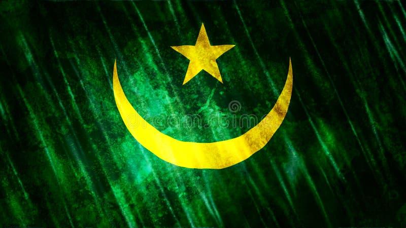 Mauretania flaga obraz royalty free