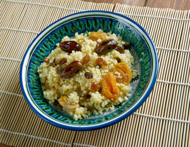 Mauretanien maträttcouscous royaltyfri bild