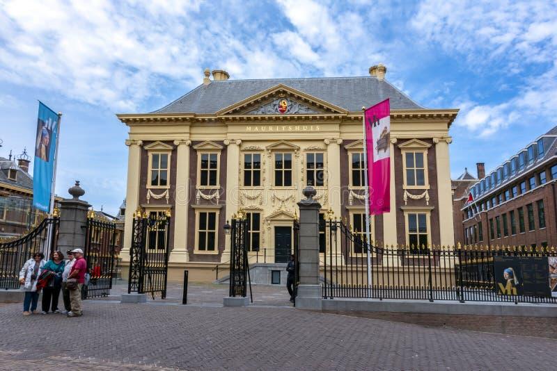 Maurice House Mauritshuis - konstmusem i mitt av Haag, Nederländerna arkivfoto