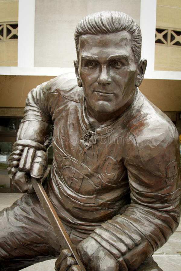 Maurice Richard statua obrazy royalty free