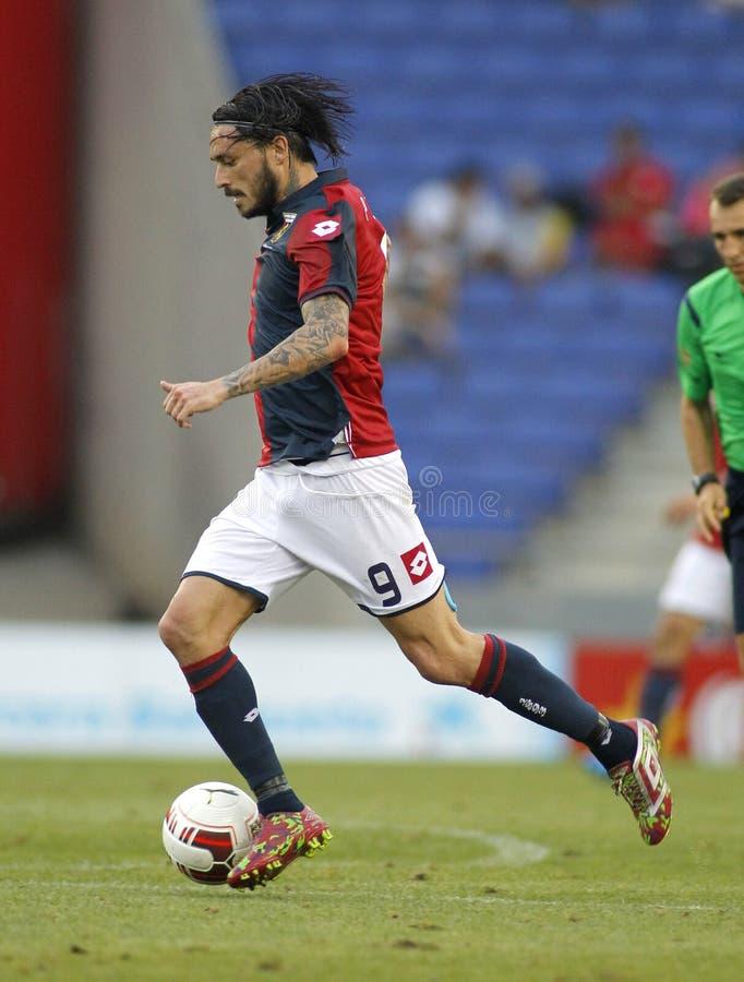 Mauricio Pinilla de Genoa CFC foto de stock royalty free