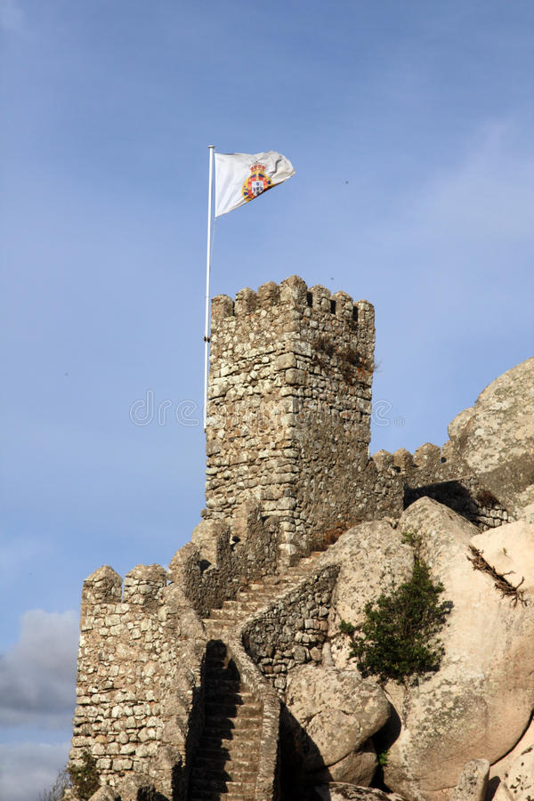 Maurischer Schloss-Grenzstein Lizenzfreies Stockbild