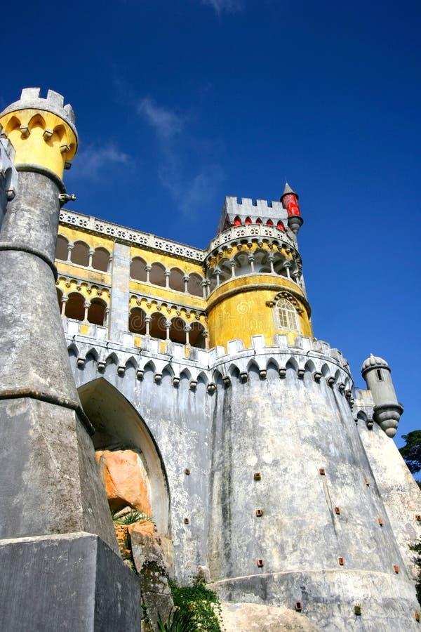 Maurisches Schloss in Portugal stockfotos