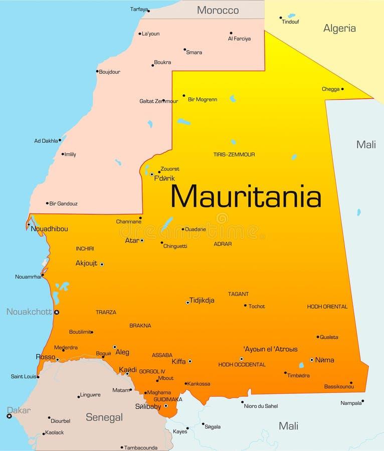 Mauritânia ilustração stock