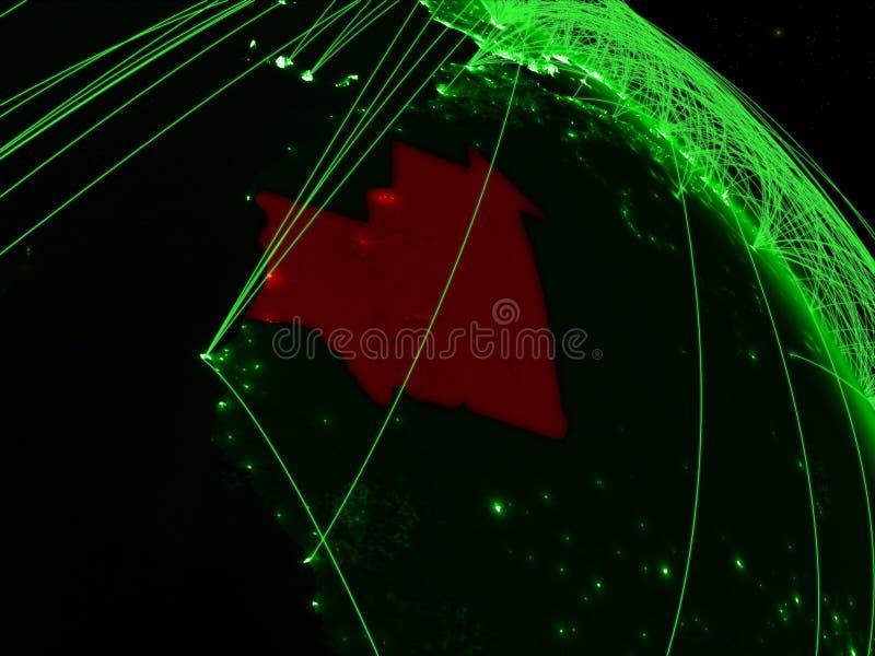 Mauritania en el globo verde ilustración del vector