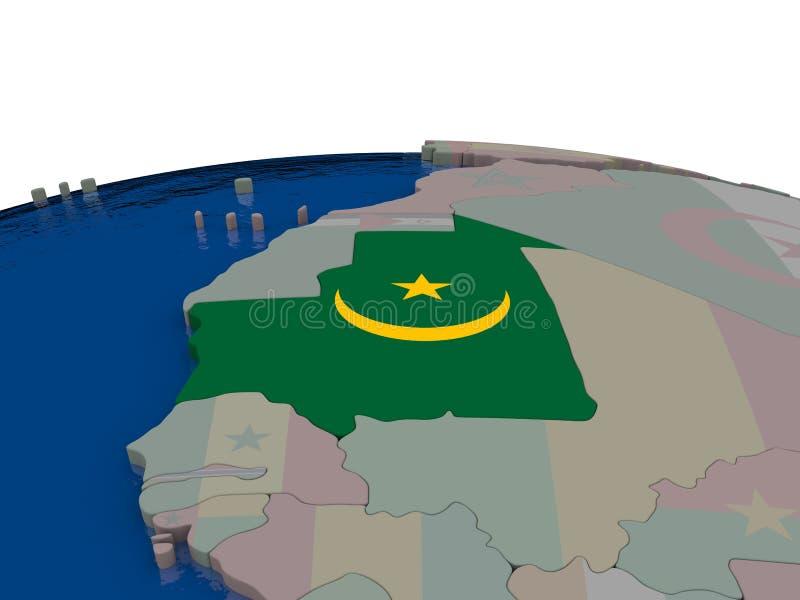 Download Mauritania with flag stock illustration. Image of international - 83717548