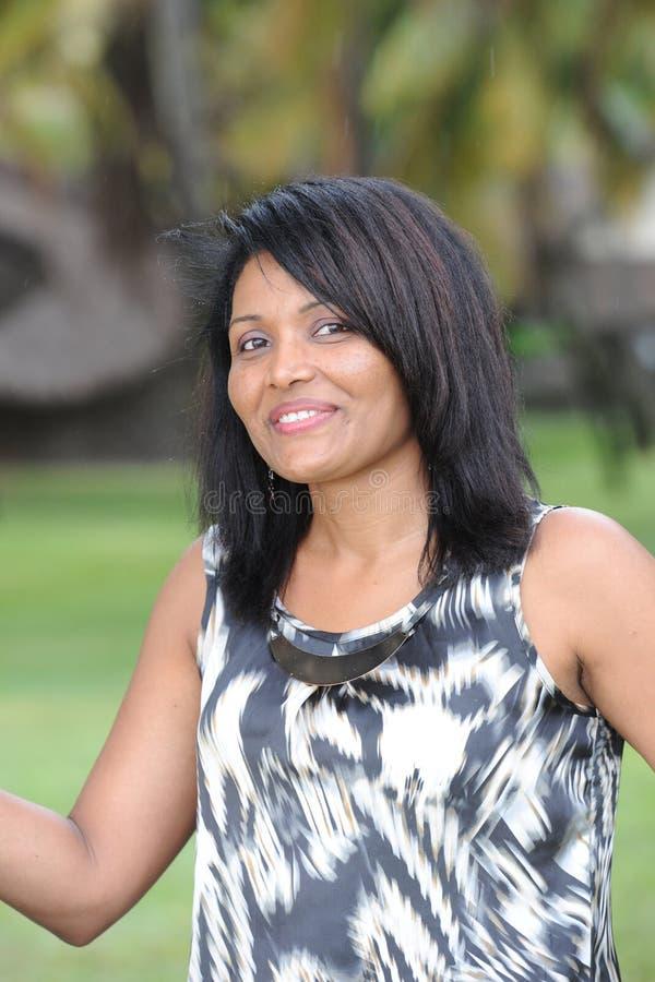 Mauritian женщина стоковое изображение