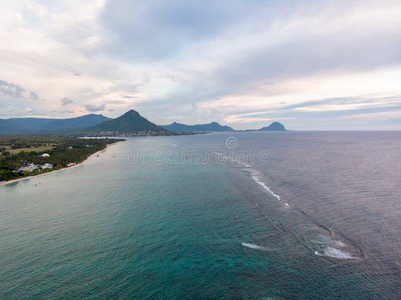 Mauritius aerial photo. royalty free stock photo