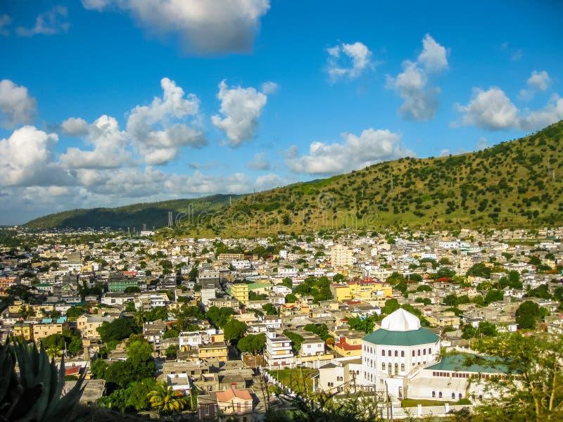 Mauritius aerial stock photo