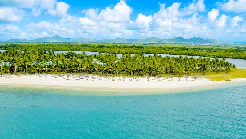 Mauritius aerial view stock photo