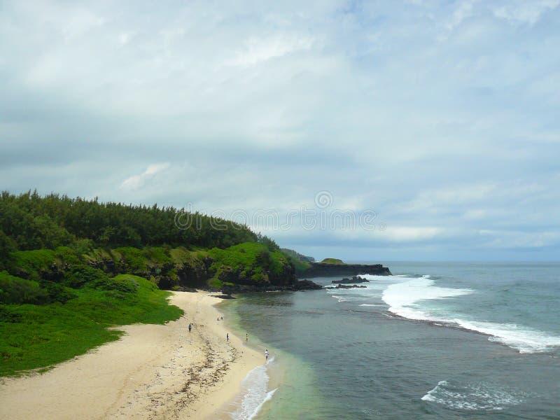 Mauritius blue sky ocean stock image